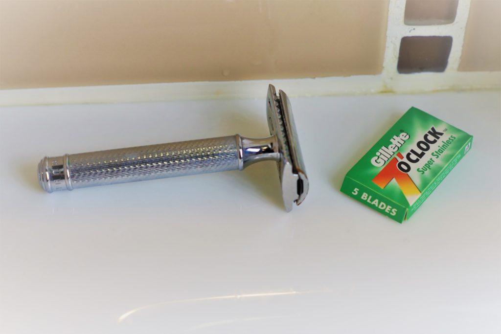 Rasoir de surête double edge Muhle R89 et une boîte de lames Gillette 7 o'clock